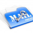 Stock Photo: Private post correspondence - privacy mail concept.