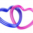 Pink and blue hearts shape — Stock Photo #38807419