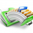 Green cloud storage concept — Stock Photo