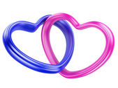 Pink and blue hearts shape — Stock Photo