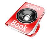 3d folder with speaker. audio-book concept — Stock Photo