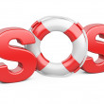SOS symbol with lifebelt — Stock Photo #42804287