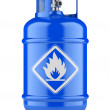 Propane cylinders with compressed gas — Stock Photo