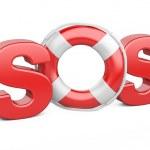 SOS symbol with lifebelt — Stock Photo #43916323