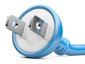 Eco energy concept. electric plug — Stock Photo