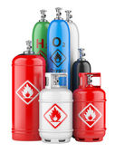 Cylinders with compressed gas — Stockfoto