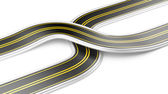 Two cross roads -  business strategy — Stock Photo