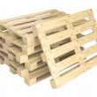 Stack of wooden pallets — Stock Photo #49338025