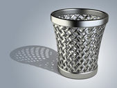 Steel wastepaper basket empty  — Stock Photo