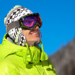 Young man smiling in ski mask — Stock Photo #2547679