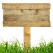 Stock Photo: Wood sign