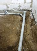 Pvc sewage pipe — Stock Photo