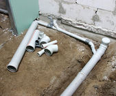 Pvc sewage pipe — Stock Photo