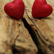Heart on wood — Stock Photo #38898485