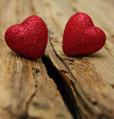 Ahşap üzerine kalp — Stok fotoğraf