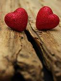 Coração em madeira — Foto Stock