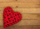 Corazón de madera — Foto de Stock