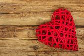 Heart on wood — Stock Photo