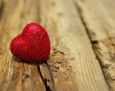 Heart on wood — Stock Photo