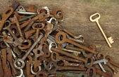 旧密钥 — 图库照片