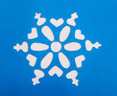 Sneeuwvlok origami — Stockfoto