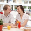young couple in cafe — Stock Photo #13363519