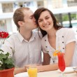 Young couple in cafe — Stock Photo #13363521