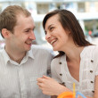 Young couple in cafe — Stock Photo #13363523