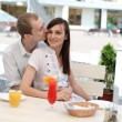 young couple in cafe — Stock Photo #13363526