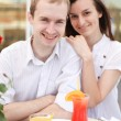 young couple in cafe — Stock Photo #13363583