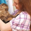 Girl with a cat — Stock Photo #13734066