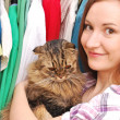 Girl with a cat — Stock Photo #13734096