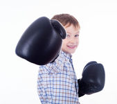 Little boy boxer — Stock Photo