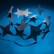 Paper christmas stars. — Stock Photo