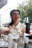 Mutlu güzel kadın — Stok fotoğraf