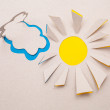 Sun  and cloud origami — Stock fotografie