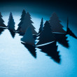 Christmas trees made of paper — Stock Photo