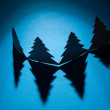 Christmas trees made of paper — Foto Stock