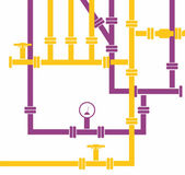 Sfondo senza soluzione di continuità della conduttura dell'acqua — Vettoriale Stock