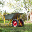 Wheelbarrow outdoor — Stock Photo