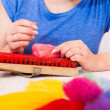 Felting activity — Foto de Stock