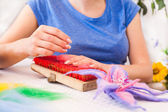 Felting activity — Foto Stock