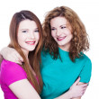 Two young women friends — Stock Photo