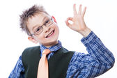 Little boy showing Ok sign — Stock Photo