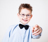 Boy pointing the camera — Stock Photo