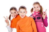 Skrattar små barn — Stockfoto