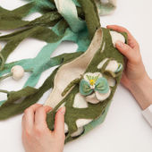 Felting activity — Stock Photo