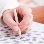 Crossword puzzle close-up. — Stock Photo #50741243