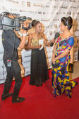 Primeira lady Ligia Lubrino Dias at the ceremony Cape Verde Music Awards — Stockfoto