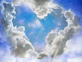 Heart of clouds — Stock Photo